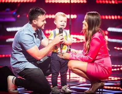 Rebecca Selley, husband Jake and son JJ on The Voice