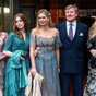 Queen Maxima and King Willem-Alexander step out with their daughters for biggest day of the year