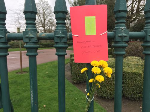 A tribute left for Tori at West Park the day after her body was found. (AAP)