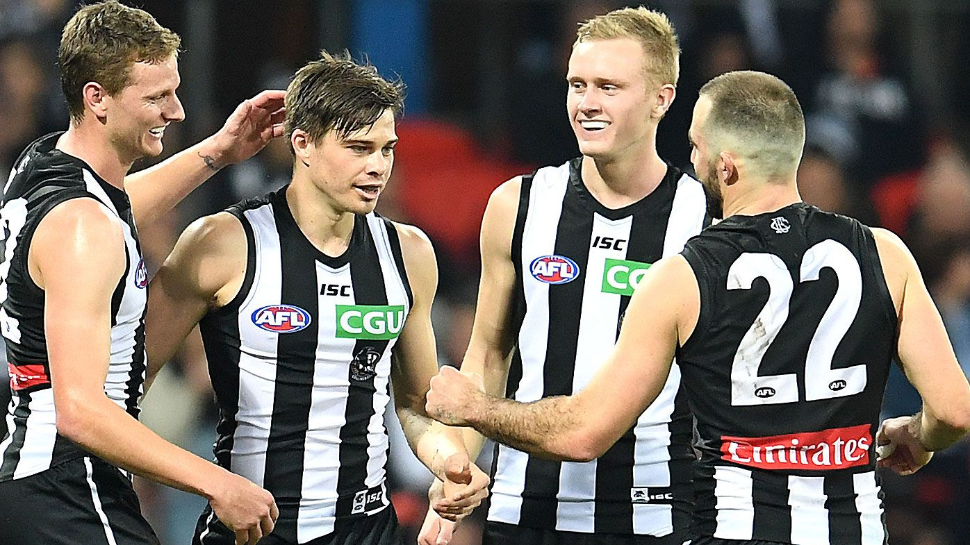 Magpies beat Suns to go second in AFL