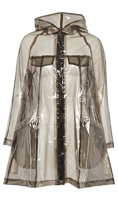 "<a href=""http://au.johnlewis.com/store/french-connection-angel-hooded-raincoat-smokey-clear/p1875429"" target=""_blank"">Angel Hooded Raincoat, $94, French Connection at johnlewis.com</a>"
