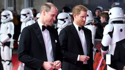 Prince William and Prince Harry in 'Star Wars', 2017