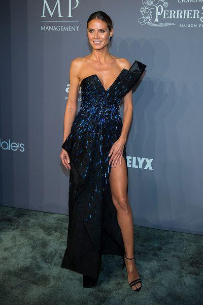 Heidi Klum in Zuhair Muradat the 20th Annual amfAR Gala