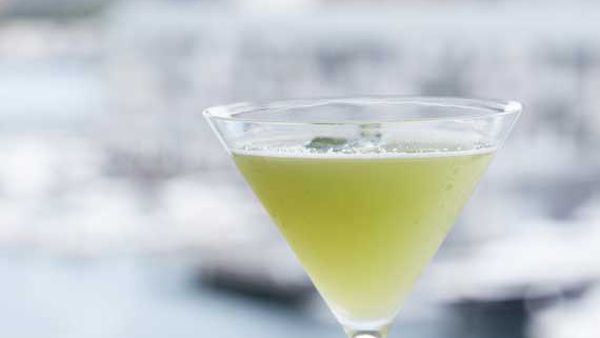 Other Side (cucumber and apricot cocktail)