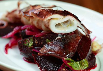 """<a href=""""http://kitchen.nine.com.au/2016/05/05/13/01/movidas-calamari-cooked-in-olive-oil-with-a-spiced-beetroot-salad"""" target=""""_top"""">MoVida's calamari cooked in olive oil with a spiced beetroot salad<br> </a>"""
