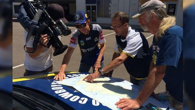 These dedicated Townsville-based Cowboys fans prepared to undertake a roadtrip. (9NEWS / Joel Dry)