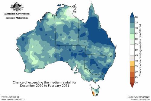 Australia November rainfall