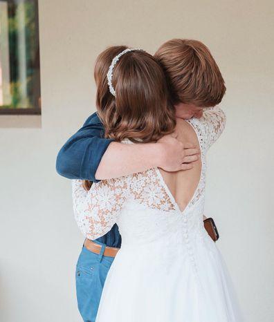 Bindi Irwin and Robert Irwin share sweet moment on her wedding day.