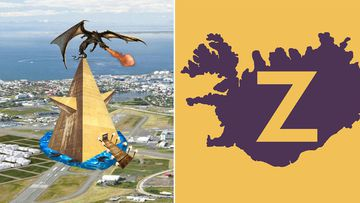 A playful photo collage by Zuism members representing their movement's Sumerian origins; the official logo of Zuism. (Facebook/Zuistar)
