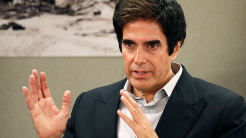 Illusionist David Copperfield appears in court Tuesday, April 24, 2018, in Las Vegas. Copperfield testified in a negligence lawsuit involving a British man who claims he was badly hurt when he fell while participating in a 2013 Las Vegas show.