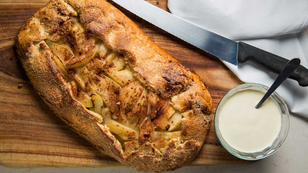 Karen Martini's free form pear and apple spiced pie recipe