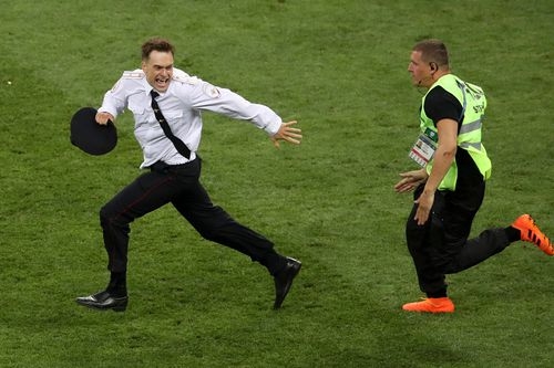 Mr Verzilov staged a brief pitch invasion during the soccer World Cup final in Moscow in July along with three women affiliated with Pussy Riot.