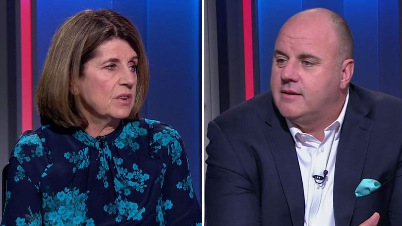 Caroline Wilson and Craig Hutchison in heated exchange over AFL Grand Final time