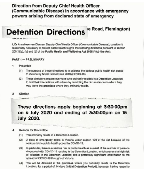 Documents on the Melbourne quarantine show it at 14 days.
