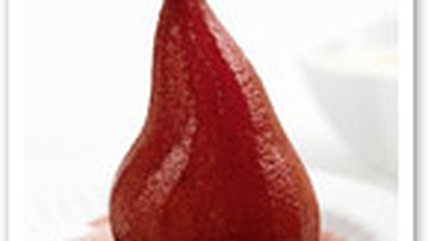 Diabetic friendly poached spiced pears