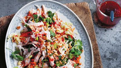 "Recipe: <a href=""http://kitchen.nine.com.au/2016/10/12/13/20/the-dinner-ladies-vietnamese-chicken-salad"" target=""_top"">The Dinner Ladies Vietnamese chicken salad</a>"