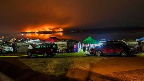 Fires burning out of control at Mallacoota in east Gippsland in Victoria.