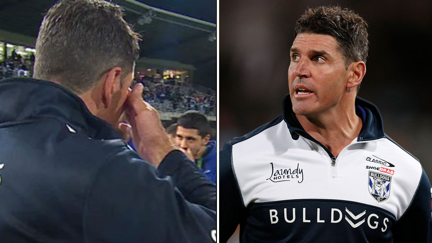 Trent Barrett fights back tears