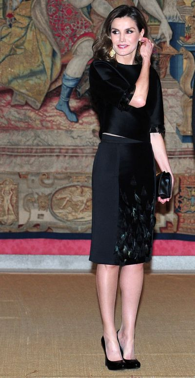 Queen Letizia at at El Pardo Palace  in Madrid, April, 2018