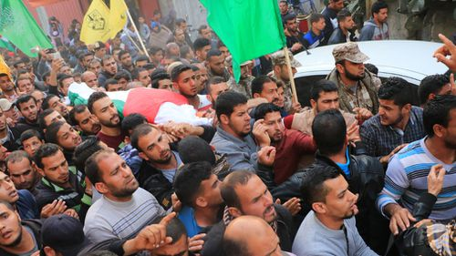Osama Qudaih, 38, who was killed by Israeli security forces during protests along the Gaza-Israel border. (AAP)