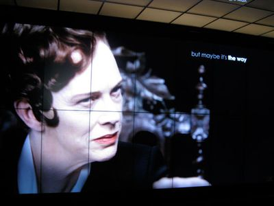 Judy Davis had a crack as the Italian rival of Chanel in a film made for an exhibition at the Met in New York in 2012.