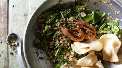 "Recipe:<a href=""http://kitchen.nine.com.au/2016/05/20/10/40/janet-deneefes-nasi-goreng-fried-rice"" target=""_top"" draggable=""false"">Janet DeNeefe's nasi goreng (fried rice)</a>"