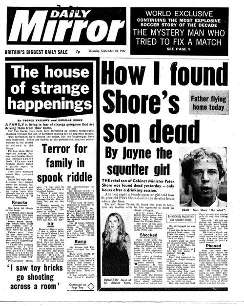 The story of the haunted Enfield house made the front page. (Supplied)