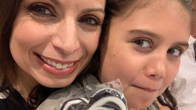 Jo Abi with her daughter Caterina, nine.