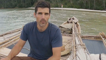 The former ADF member has sailed from Townsville to Cape York in a hand-carved wooden canoe, surviving at sea for 49 days.