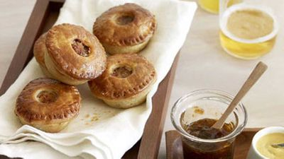 """<strong>Recipe: <a href=""""http://kitchen.nine.com.au/2016/05/17/10/48/ale-and-cider-pork-party-pies"""" target=""""_top"""">Ale and cider pork party pies</a></strong>"""