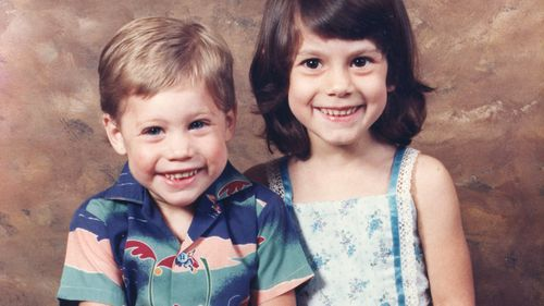 Stafford Finney as a child with his big sister Jaimi.