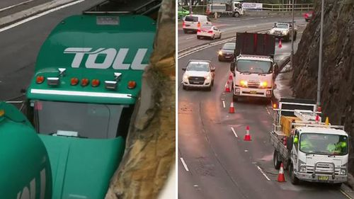 One north bound lane on Manly Road will be closed for the entire day as emergency crews clear the crash.