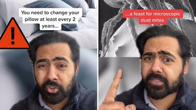 A doctor on TikTok reveals why you should change pillows every two years