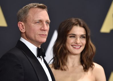 Daniel Craig and Rachel Weisz arrive at the Governors Awards in 2015.