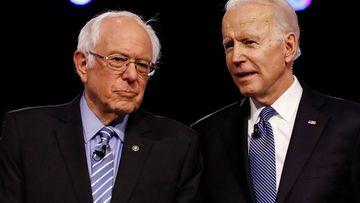 Democratic rivals Bernie Sanders and Joe Biden