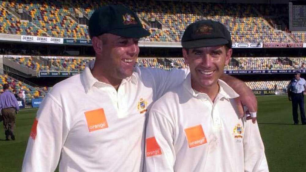 Darren Lehmann and Justin Langer. (AAP)