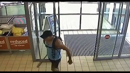 Mervyn Davidson, 44, stormed an Aldi store on the NSW South Coast in January last year.