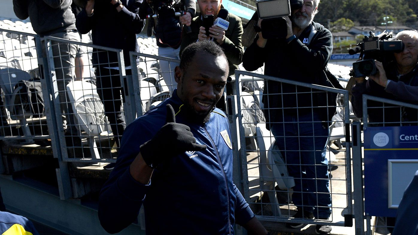 Big challenge ahead for Usain Bolt after first session with Mariners