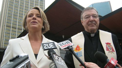 Kristina Keneally and George Pell when she was Premier of NSW.