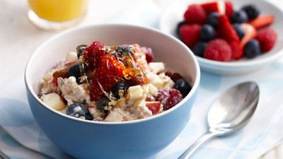 "Click here for our <a href=""http://kitchen.nine.com.au/2016/05/16/13/33/bircher-muesli"" target=""_top"">Bircher muesli with mixed berries</a>"