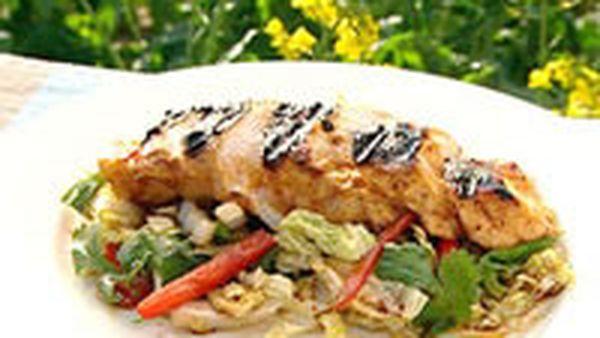 Tamarind, lime and honey chicken salad