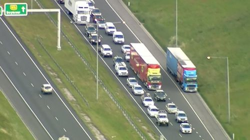 One lane has been closed, causing traffic havoc in the area. (9NEWS)