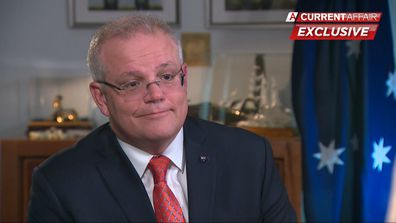 Prime Minister Scott Morrison faces a grilling from Tracy Grimshaw on A Current Affair.