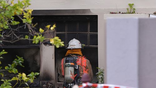 """Fire fighters said the blaze was """"intense"""" and """"complex"""". (AAP)"""