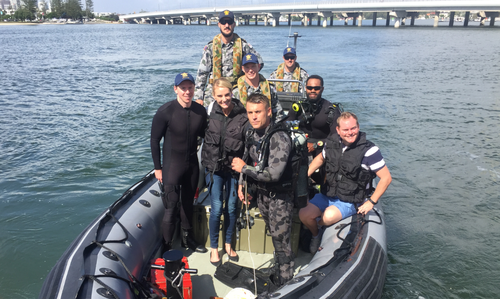 The clearance divers invited 9NEWS on board this morning. (9NEWS)