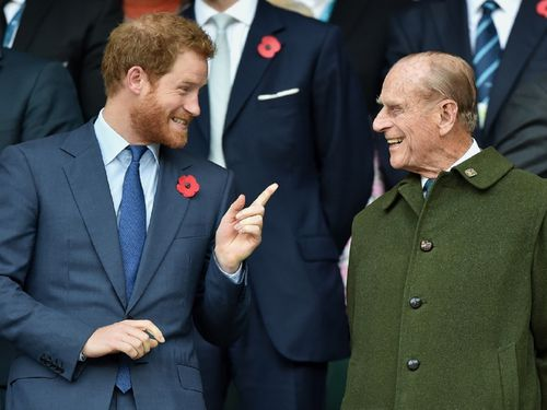 Prince Harry is said to be greatly concerned about his grandfather following his recent hospitalisation.