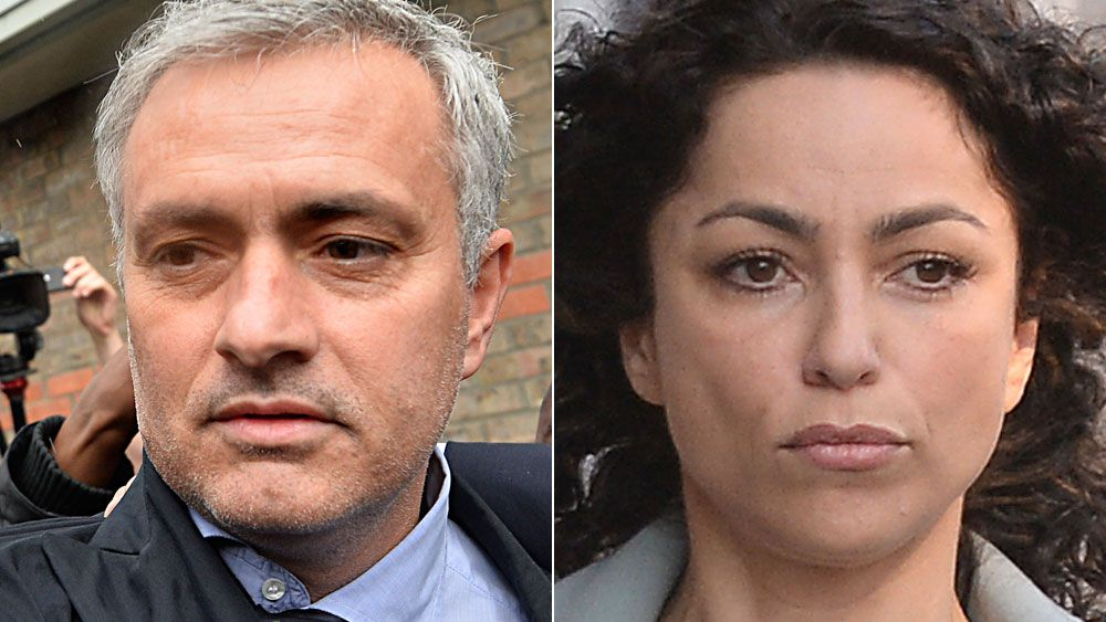 Jose Mourinho and Eva Carniero. (AAP)