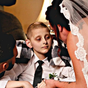 Mum's 'bittersweet' wedding as cancer-stricken son escorts her down the aisle