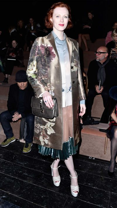 Karen Elson at Valentino