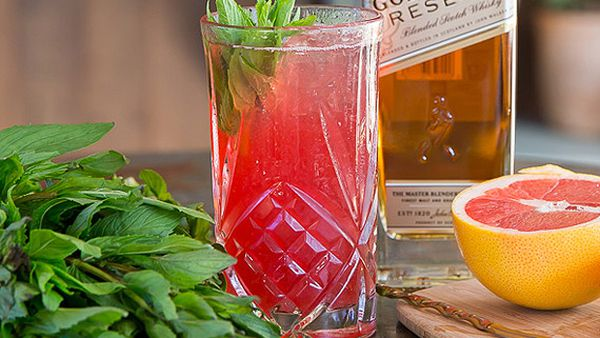 Sean Baxter's honey and hibiscus fizz